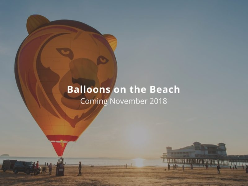 balloons on the beach