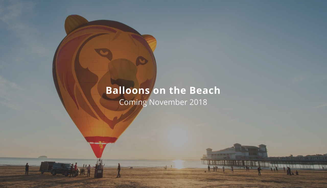 balloons on the beach