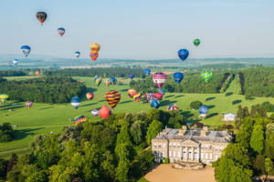 The Midlands Air Festival, as part of a hot air balloon branding campaign